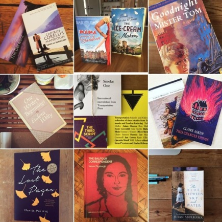 collage of books from Ruth Dawkins instagram