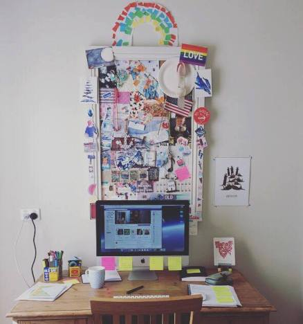 Desk belonging to writer Ruth Dawkins