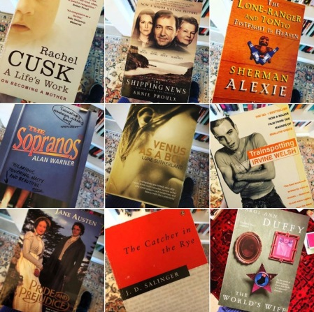 Collage of life-changing books