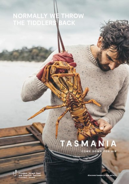 Tourism Tasmania Come Down for Air campaign launch image